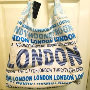 Robin Ruth Blue and White London Purse Tote Bag
